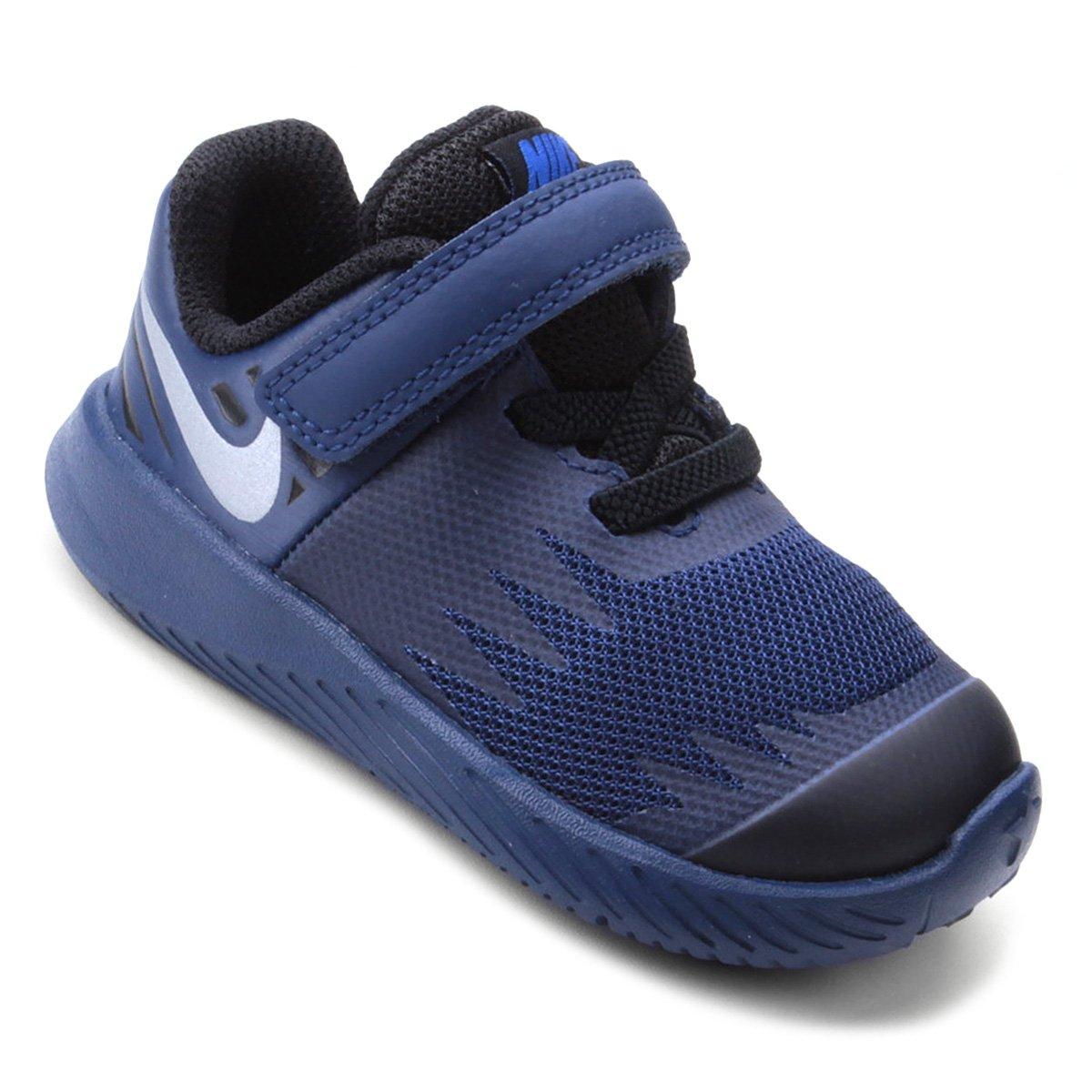 17356c2a1ea Tênis Infantil Couro Nike Star Runner Reflective Masculino - Marinho ...