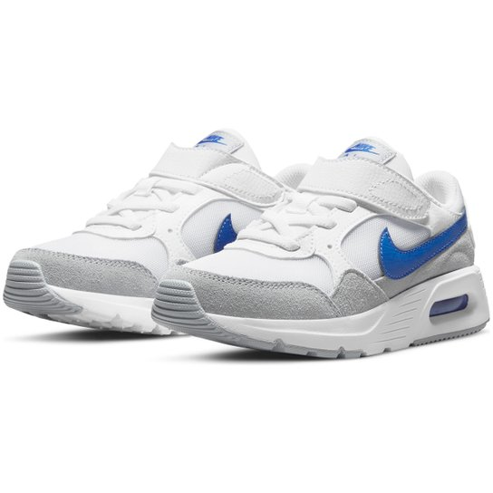Tênis Infantil Nike Air Max SC BPV Masculino - Branco+Azul Royal