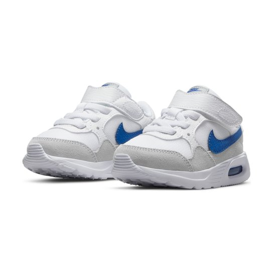 Tênis Infantil Nike Air Max SC BTV Masculino - Branco+Azul Royal