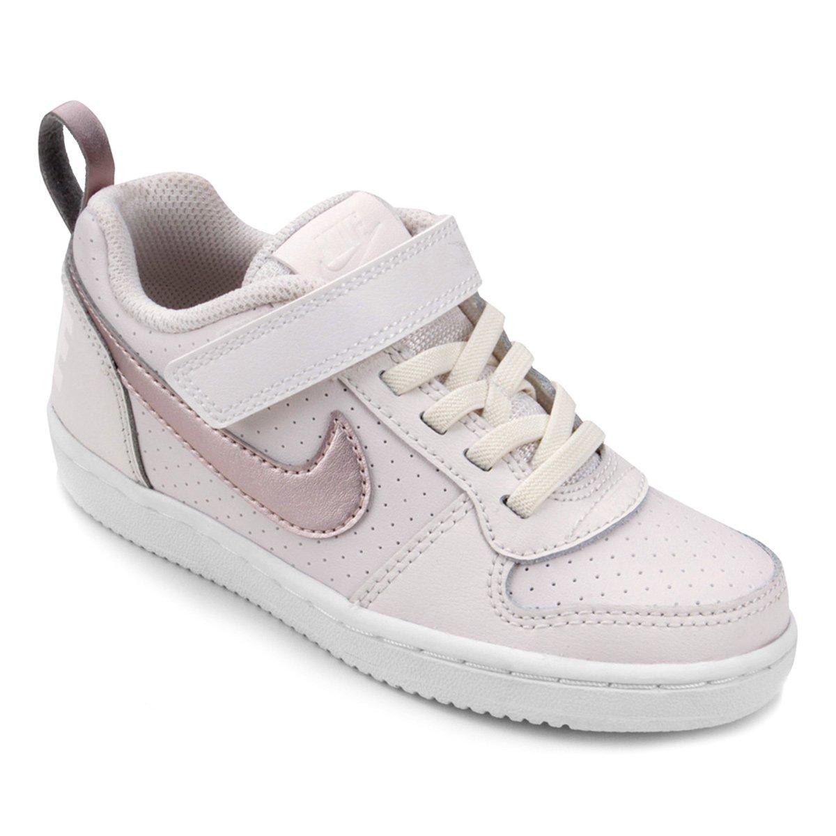 abd2eb3fe2c Tênis Infantil Nike Court Borough Low Feminino - Ouro - Compre Agora ...