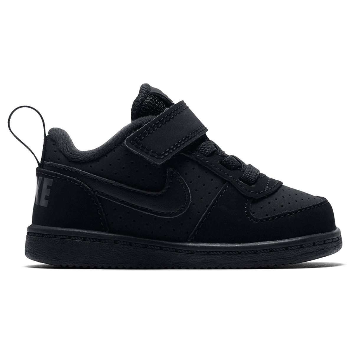 adcf4926f0e Tênis Infantil Nike Court Borough Low Masculino - Preto - Compre ...