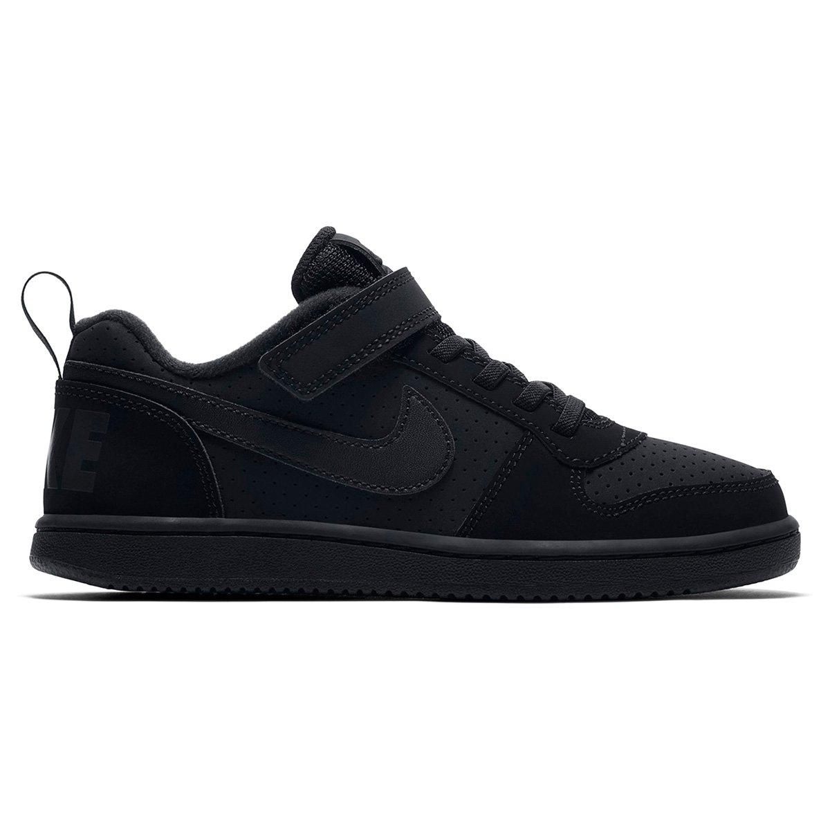 715def4e329 Tênis Infantil Nike Court Borough Low - Preto - Compre Agora