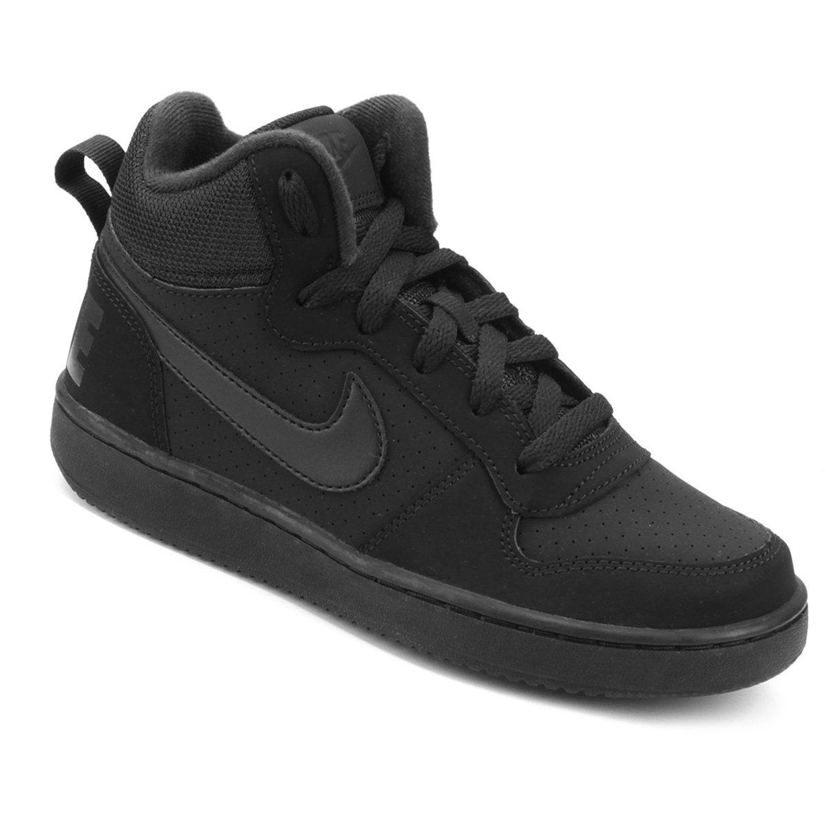 96ba2b4aedcb1 Tênis Infantil Nike Court Borough Mid Masculino - Preto | Shop Timão