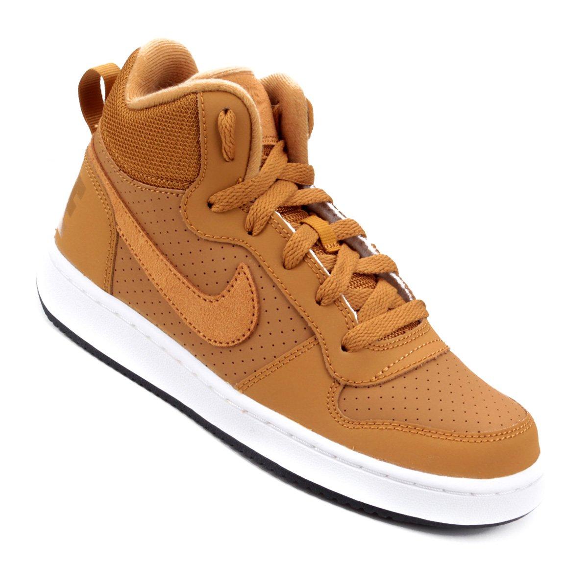 f3e382ee8b0 Tênis Infantil Nike Court Borough Mid Masculino - Bege - Compre Agora