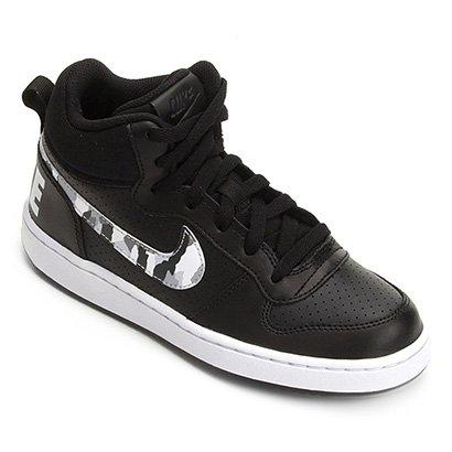 5f4f933793 Tênis Infantil Nike Court Borough Mid Masculino - Preto e Branco - Compre  Agora