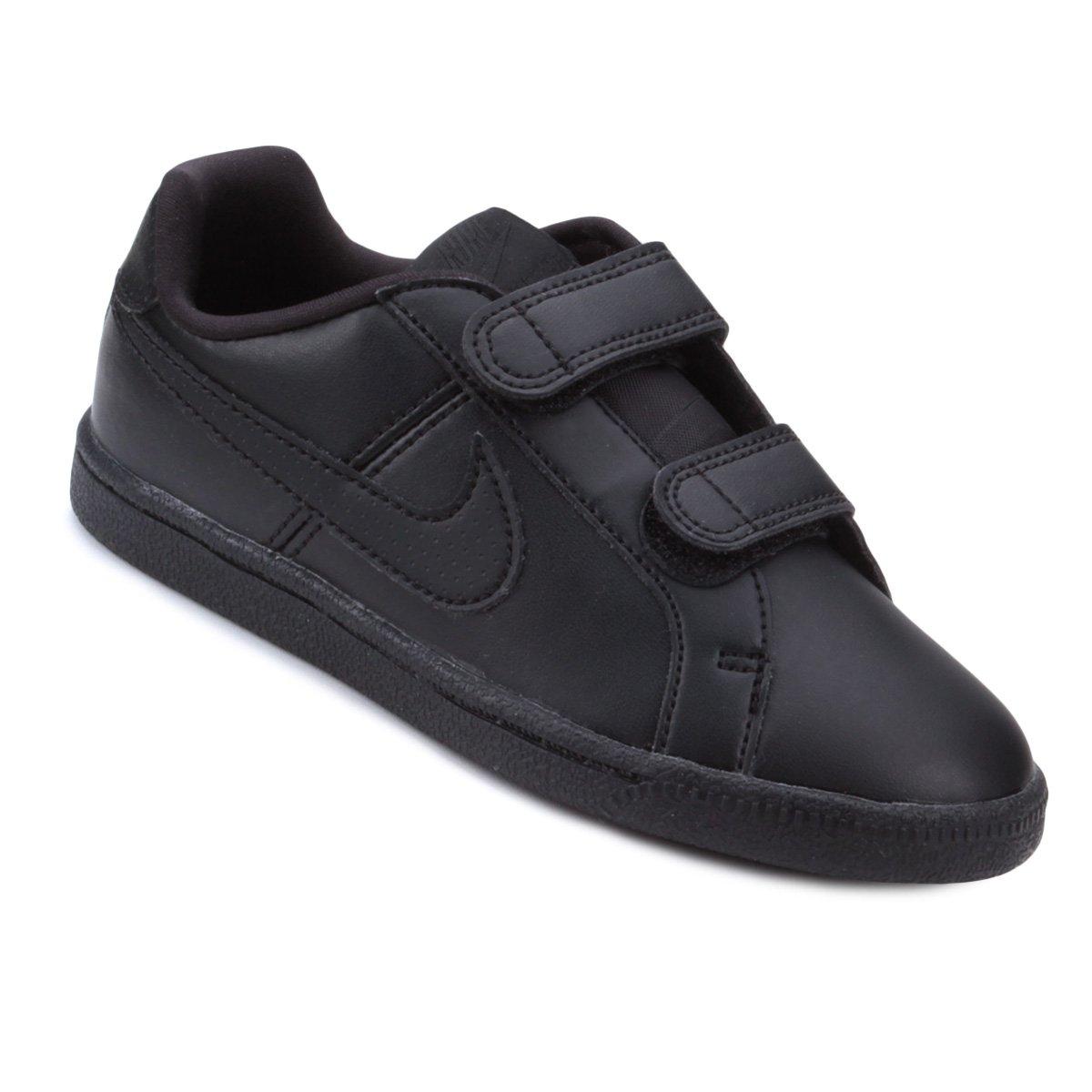 b281f2f9b94a1 Tênis Infantil Nike Court Royale Masculino - Preto - Compre Agora ...