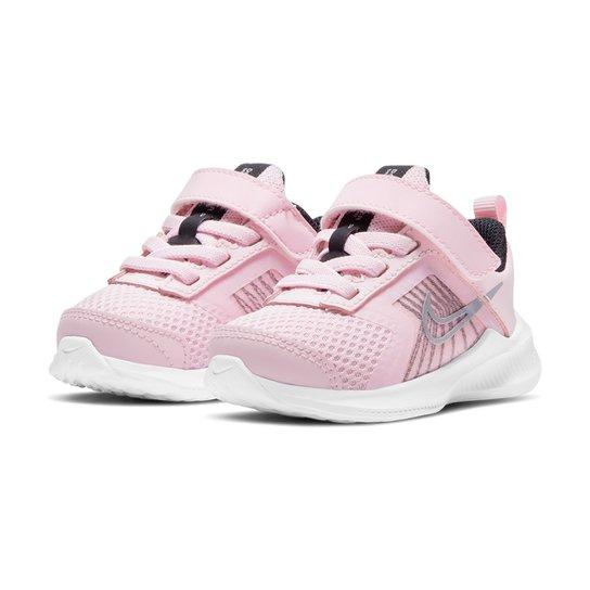 Tênis Infantil Nike Downshifter 11 - Rosa+Branco