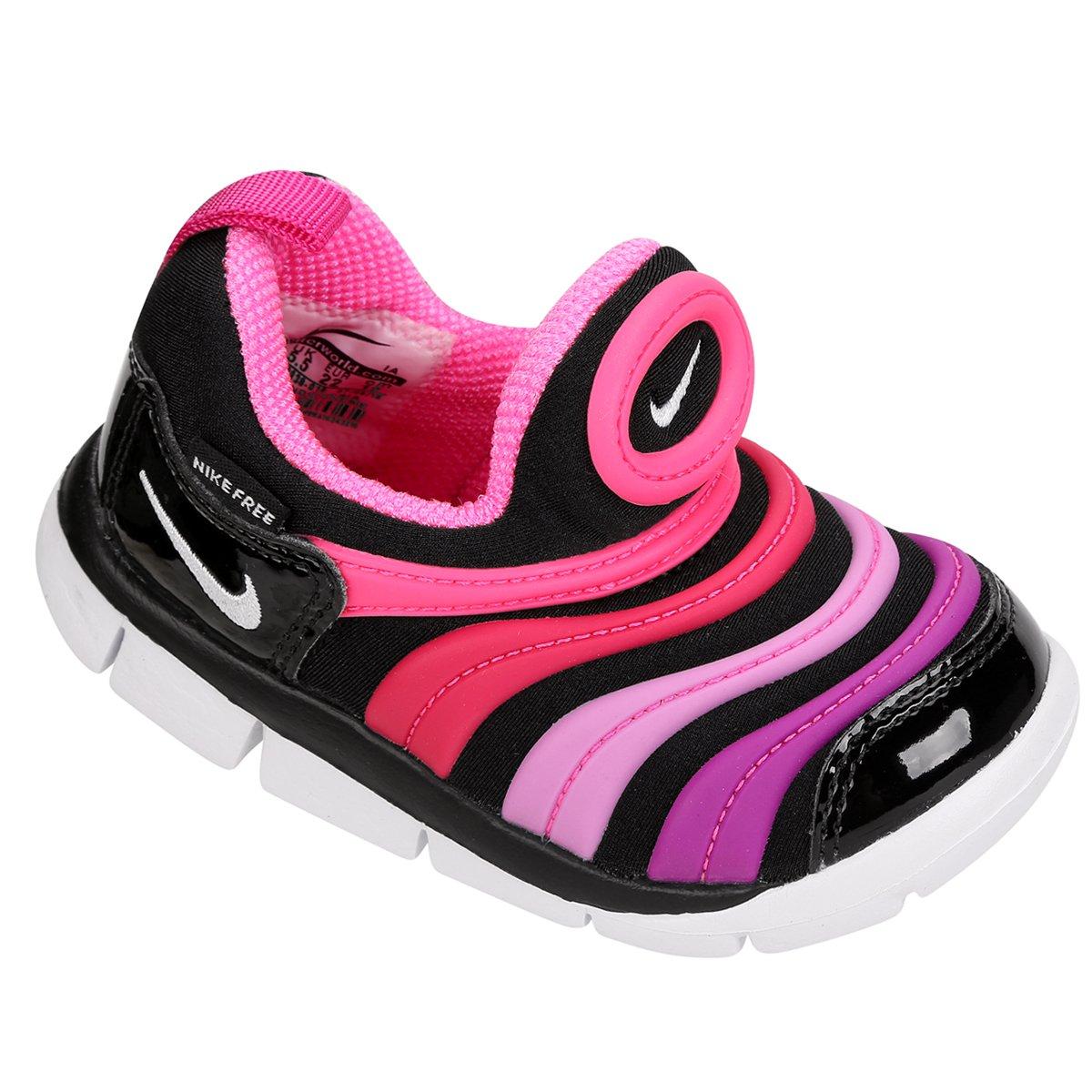 ... Tênis Infantil Nike Dynamo Free - Preto e Pink - Compre Agora Shop . ed260dfe489