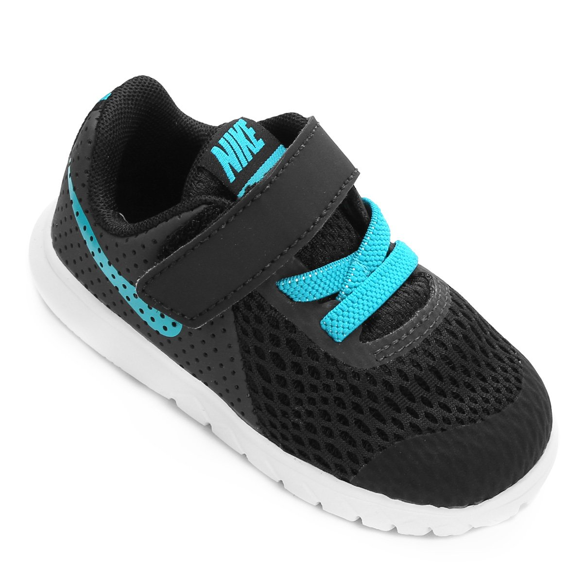 Tênis Infantil Nike Flex Experience 5 - Preto e Azul Turquesa ... 144bfc4d8400b
