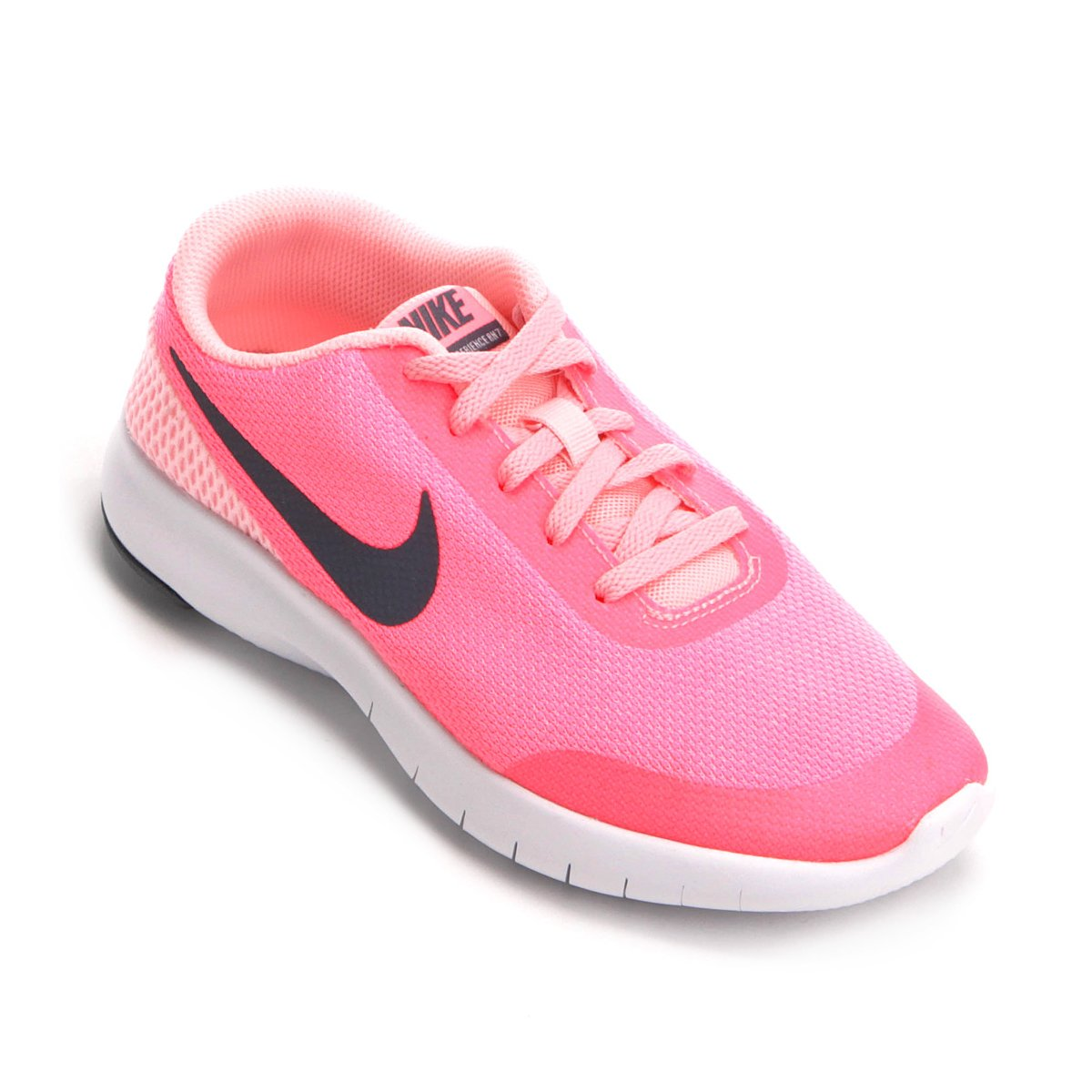 5cf4200b769 Tênis Infantil Nike Flex Experience Rn Feminino - Pink e Cinza - Compre  Agora