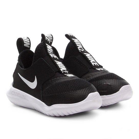 Tênis Infantil Nike Flex Runner TD - Preto+Branco