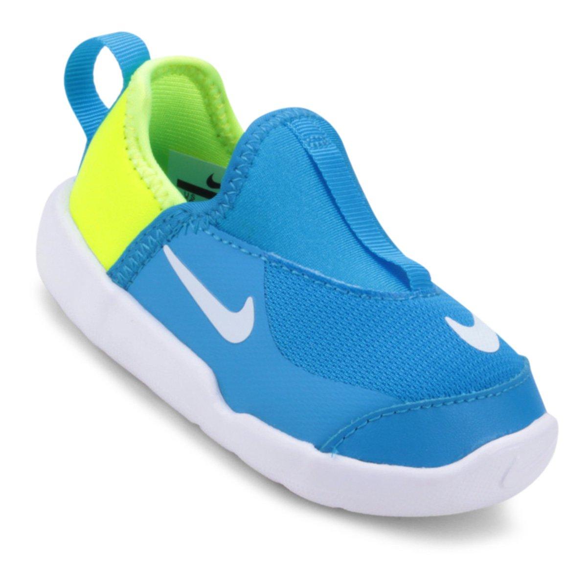 a63c39abd5f Tênis Infantil Nike Lil  Swoosh Masculino - Azul e Branco - Compre Agora
