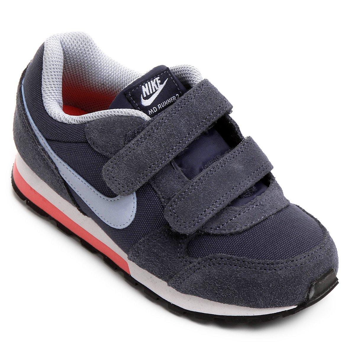 89b2d50fe30c9 Tênis Infantil Nike Md Runner 2 Feminino - Marinho e Azul - Compre Agora