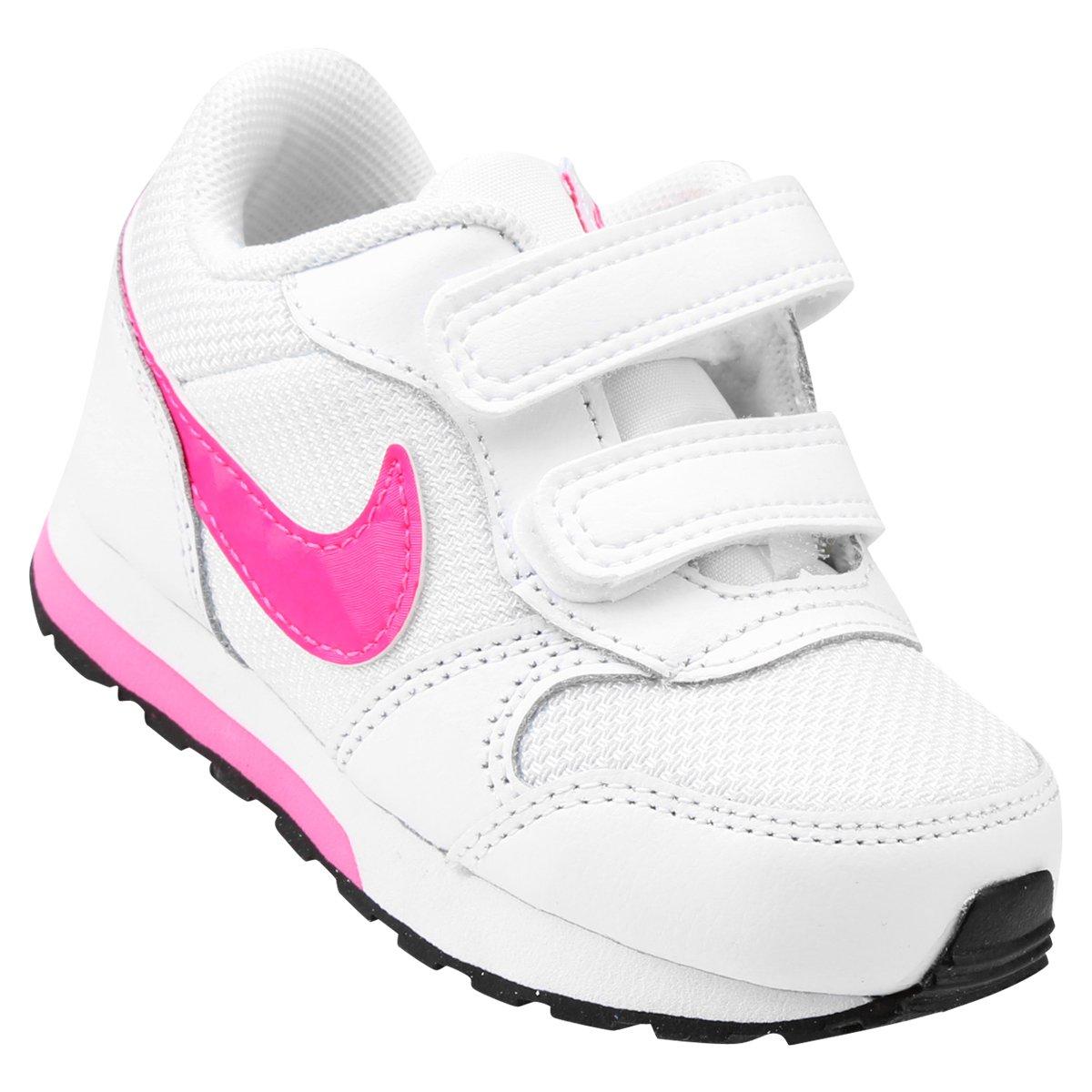 f0dae83181c Tênis Infantil Nike Md Runner 2 - Branco e Rosa - Compre Agora ...