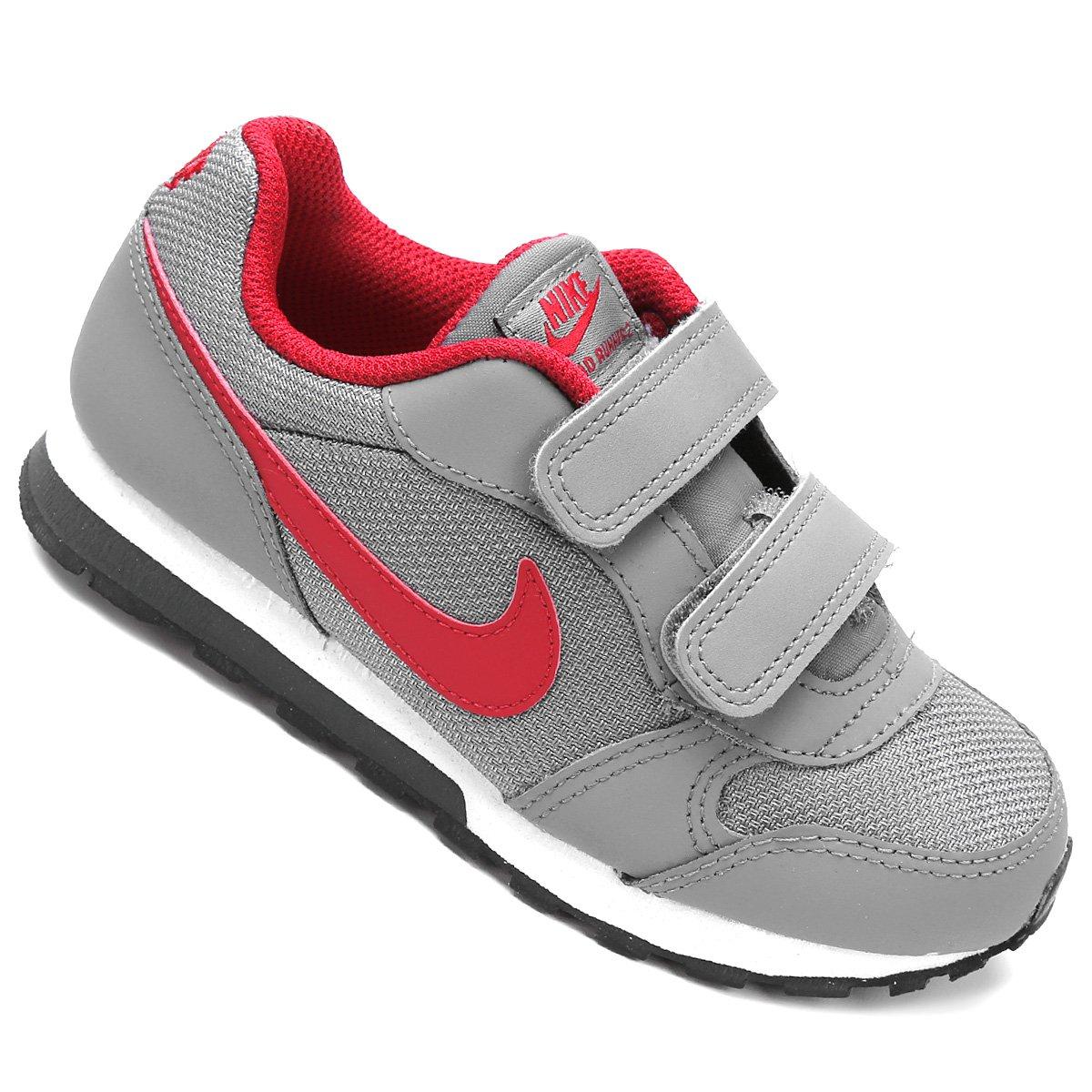 aac9e4e8ddb Tênis Infantil Nike Md Runner 2 - Cinza e Vermelho - Compre Agora ...