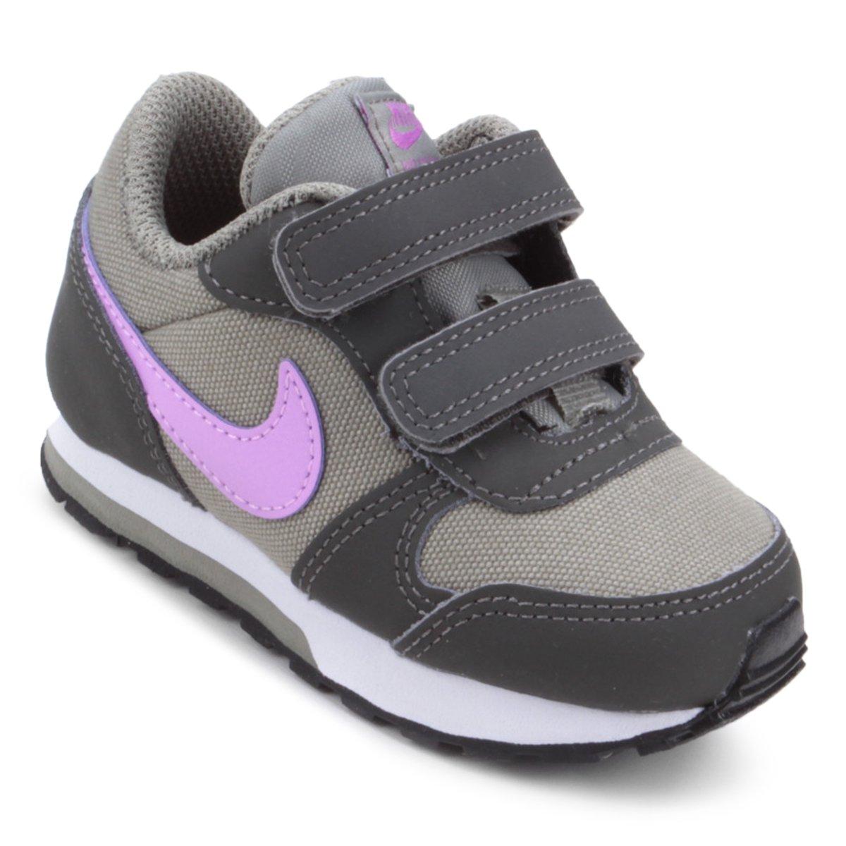 d651c1160010f Tênis Infantil Nike Md Runner 2 - Cinza e Branco | Shop Timão