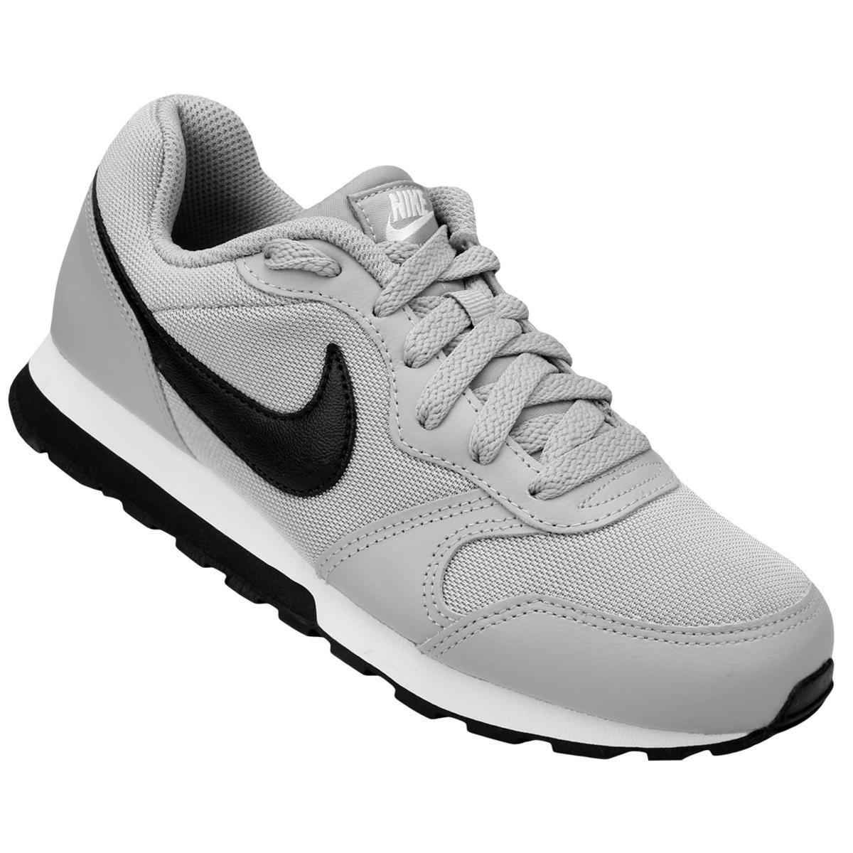 60e5569d016 Tênis Infantil Nike Md Runner 2 - Cinza e Preto - Compre Agora ...