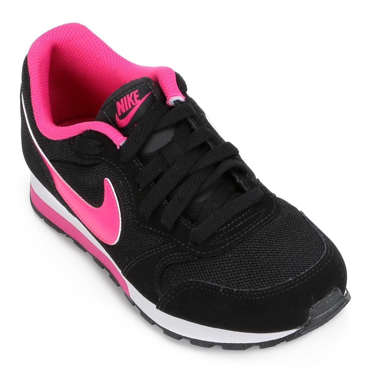 Tênis Infantil Nike Md Runner 2 - Preto e Rosa - Compre Agora  f455833d4c576