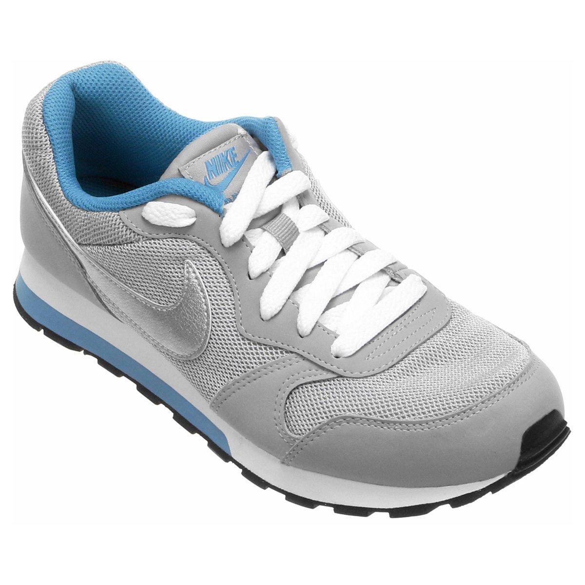 Tênis Infantil Nike Md Runner 2 - Cinza e Azul Claro - Compre Agora ... 8339d74c3965f