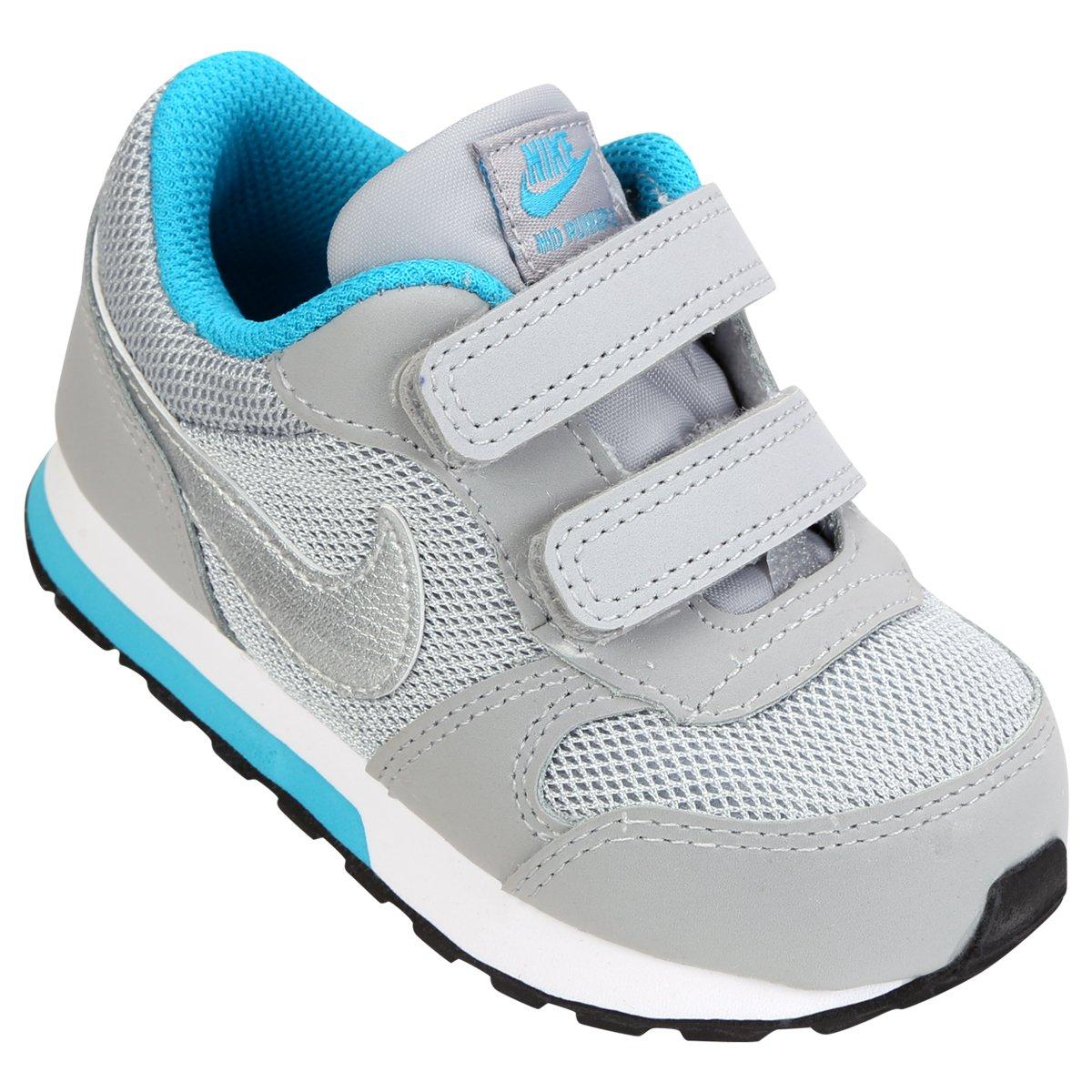 0d71e455dc15f Tênis Infantil Nike Md Runner 2 - Prata e Azul Claro | Shop Timão