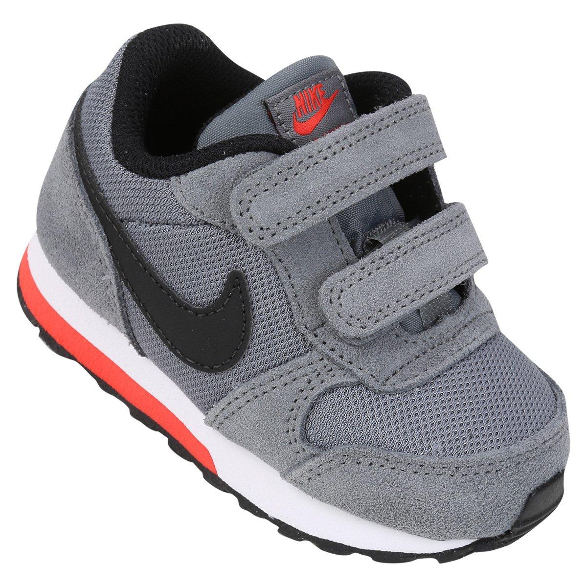 2d77ea79e80 Tênis Infantil Nike Mid Runner 2 - Cinza e Preto - Compre Agora ...