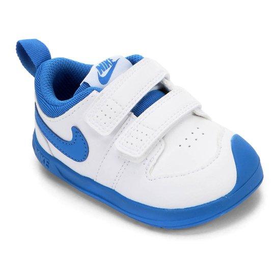Tênis Infantil Nike Pico 5 - Branco+Azul