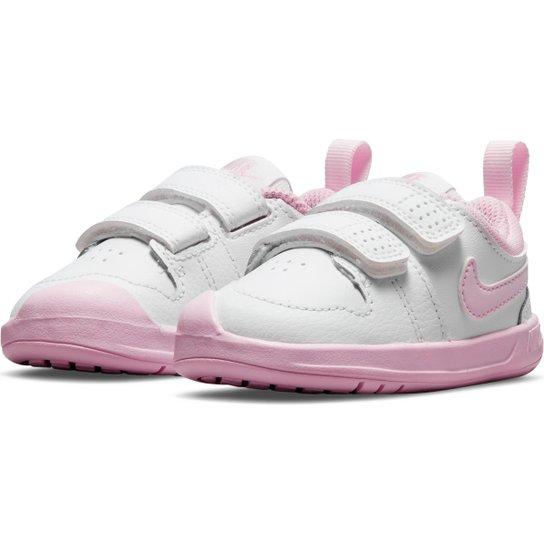 Tênis Infantil Nike Pico 5 - Gelo+Pink