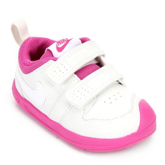 Tênis Infantil Nike Pico 5 - Branco+Rosa