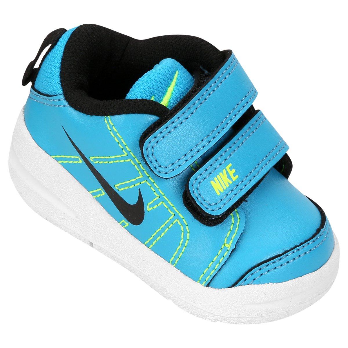 545c5955e833 Tênis Infantil Nike Pico Lt Masculino - Azul Piscina e Verde Limão - Compre  Agora