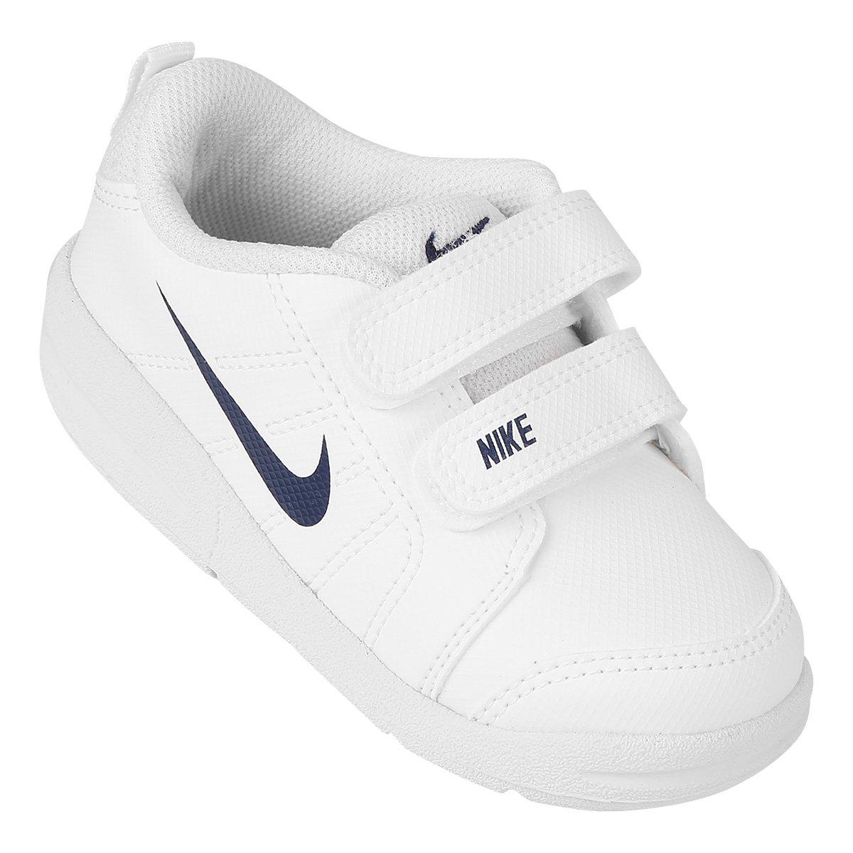 310422948df Tênis Infantil Nike Pico Lt Masculino - Branco e Azul Claro - Compre Agora