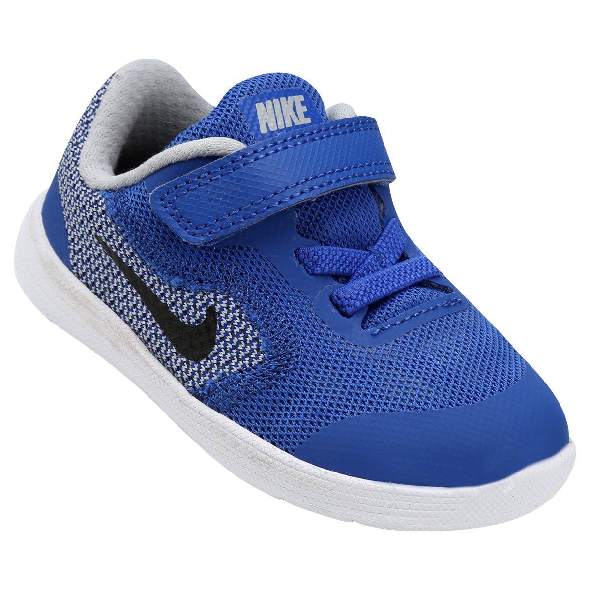 b033083433f Tênis Infantil Nike Revolution 3 - Azul Royal e Preto - Compre Agora ...