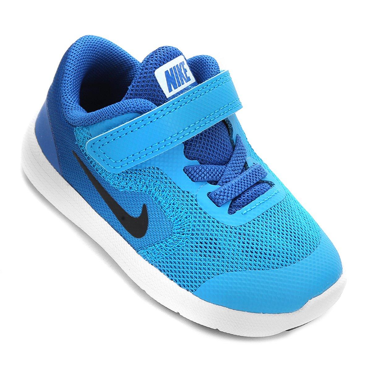 740fa6d568 Tênis Infantil Nike Revolution 3 - Azul e Branco