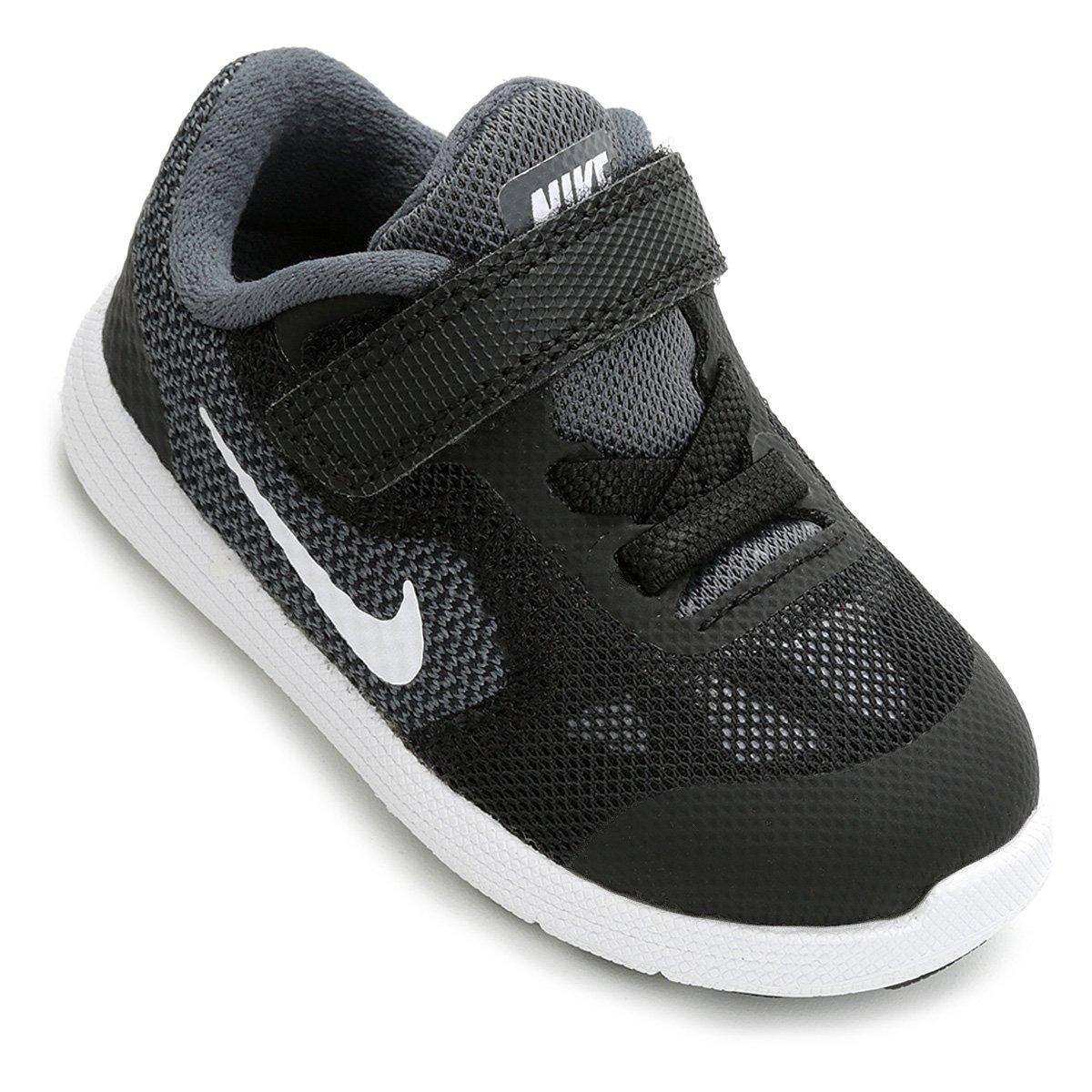 48941f342c Tênis Infantil Nike Revolution 3 - Preto e Cinza - Compre Agora ...