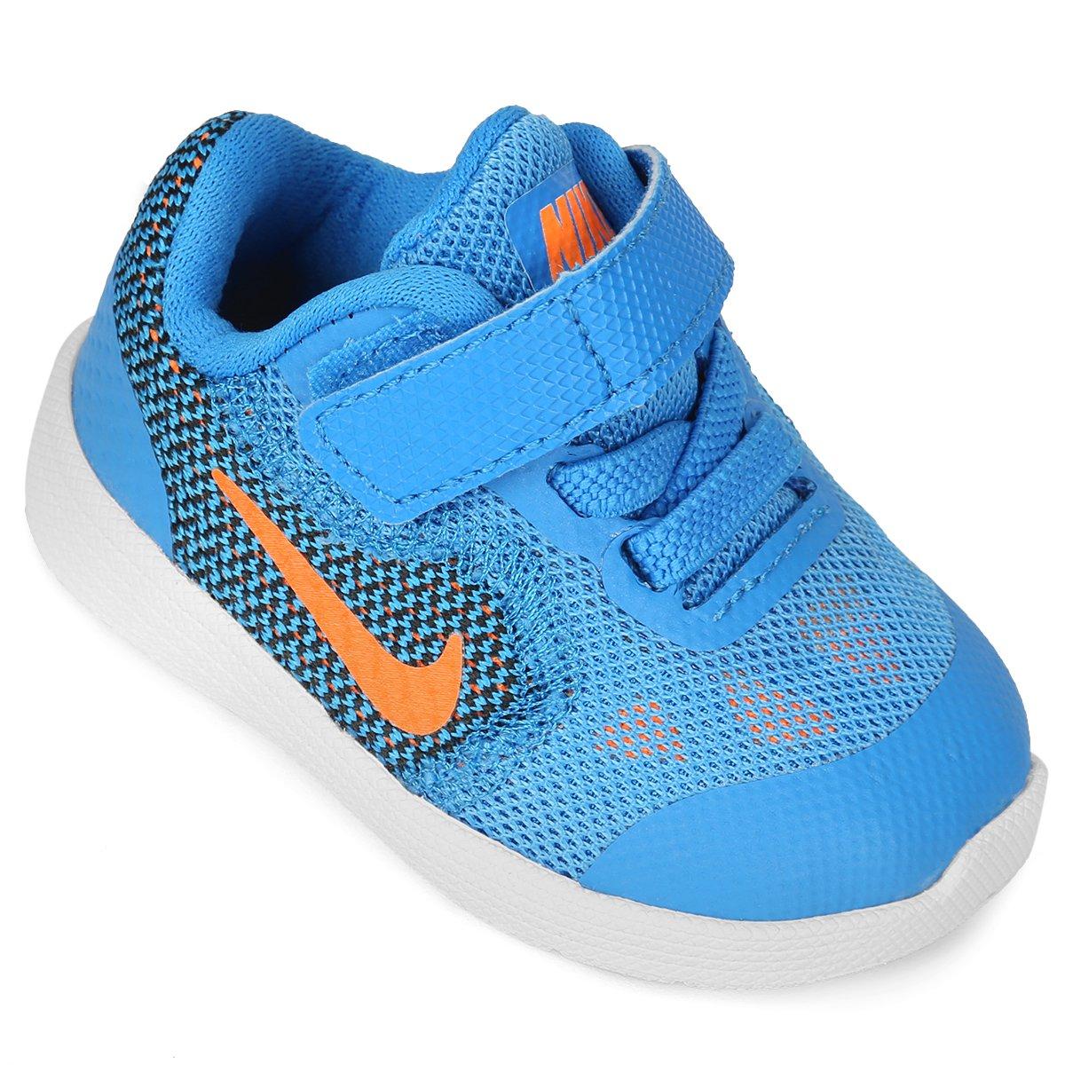 15ecda225d3 Tênis Infantil Nike Revolution 3 - Azul e Laranja - Compre Agora ...