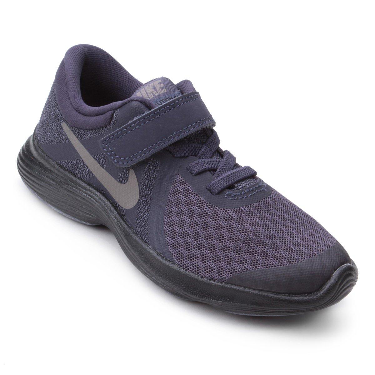 size 40 d08f5 58dff Tênis Infantil Nike Revolution 4 Masculino - Preto e Cinza   Shop Timão