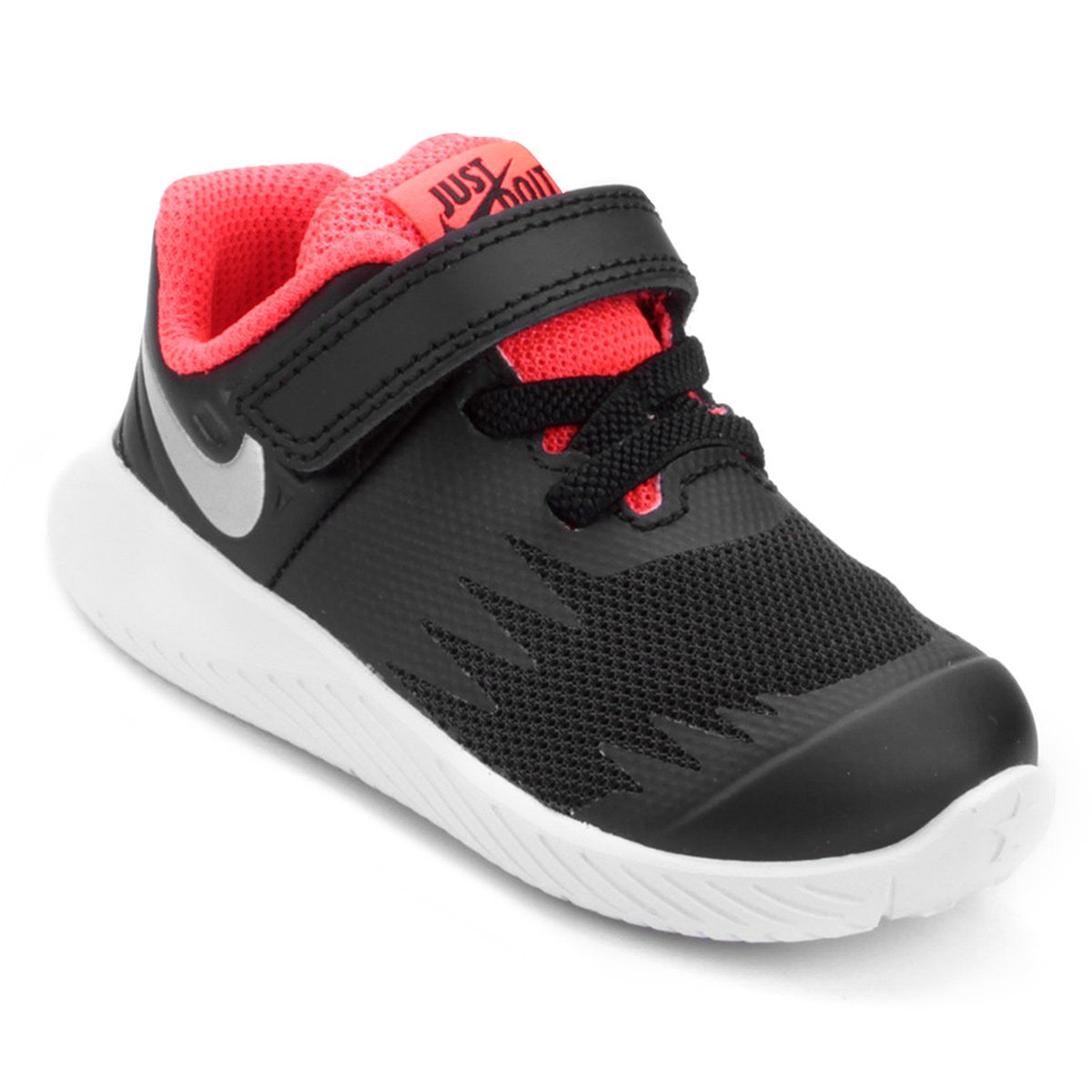 04536544f2c Tênis Infantil Nike Star Runner Masculino - Preto e Prata - Compre Agora
