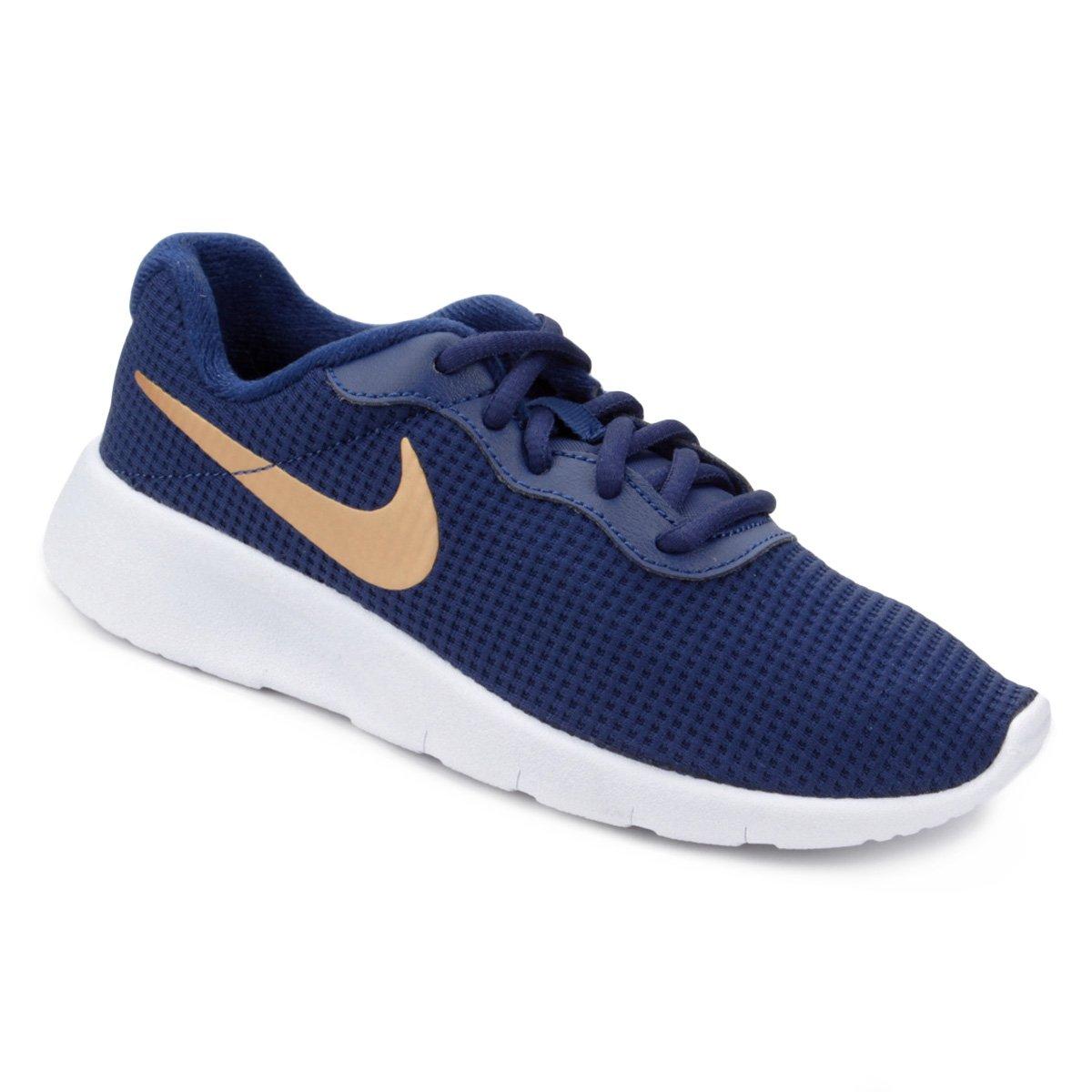 Tênis Infantil Nike Tanjun Masculino - Azul e Dourado - Compre Agora ... cb69d4f2b2b03