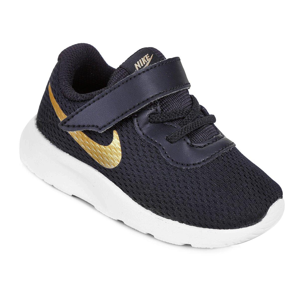 63dd58ae6 Tênis Infantil Nike Tanjun - Preto e Dourado - Compre Agora