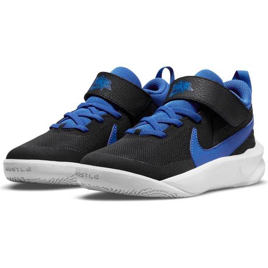 Tênis Infantil Nike Team Hustle D 10 PS - Preto+Azul