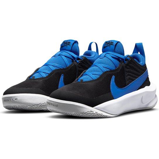 Tênis Infantil Nike Team Hustle D 10 - Preto+Azul