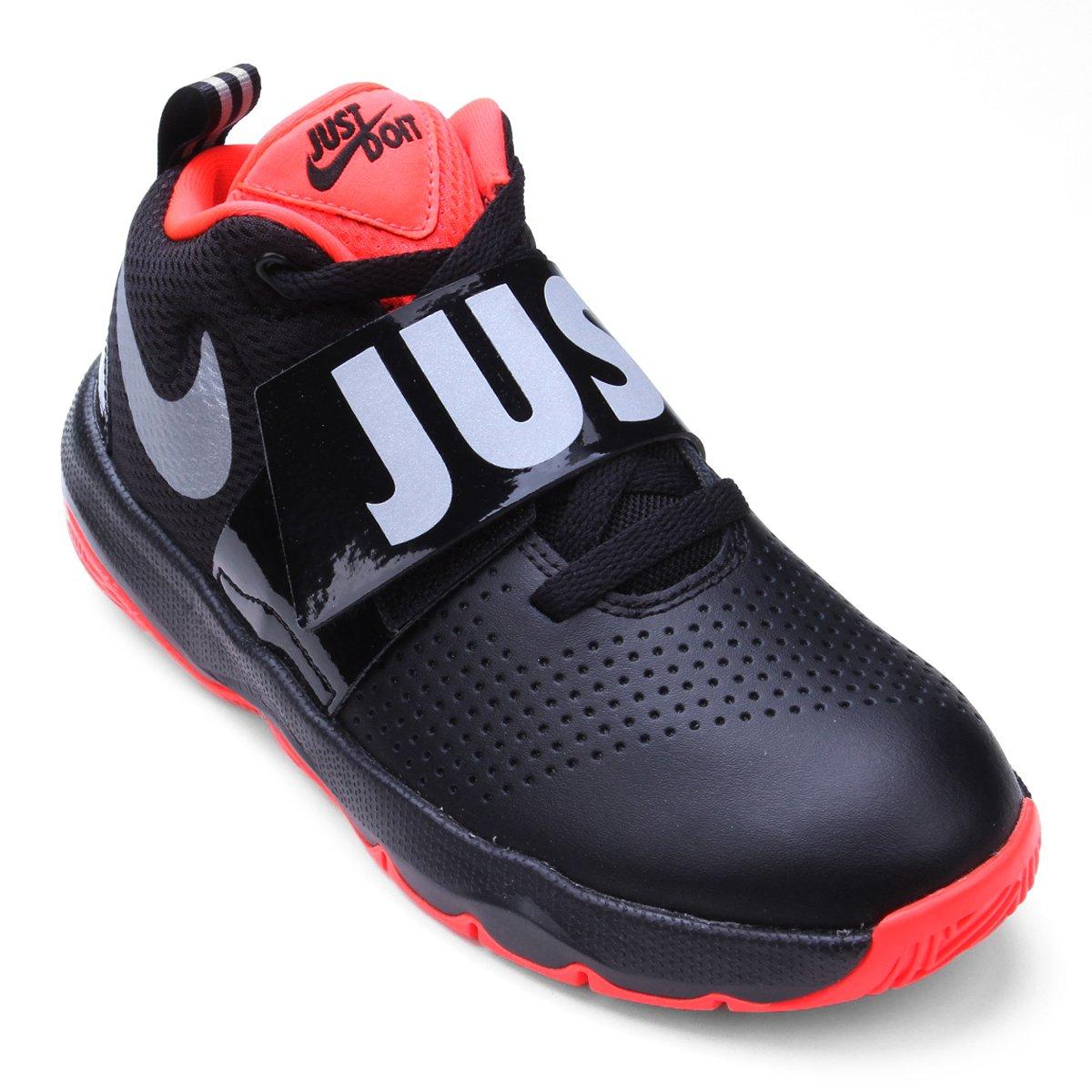 296fb237 Tênis Infantil Nike Team Hustle D 8 Jdi Bg - Preto e Prata | Shop Timão