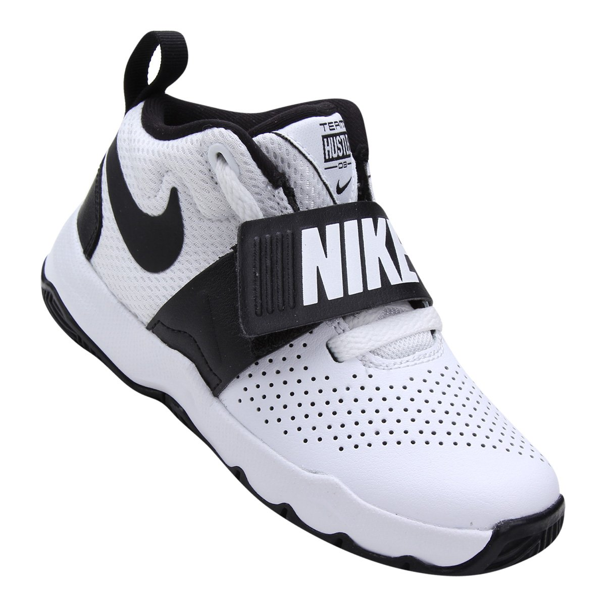 Tênis Infantil Nike Team Hustle D 8 Masculino - Branco e Preto ... 848a4f4322036