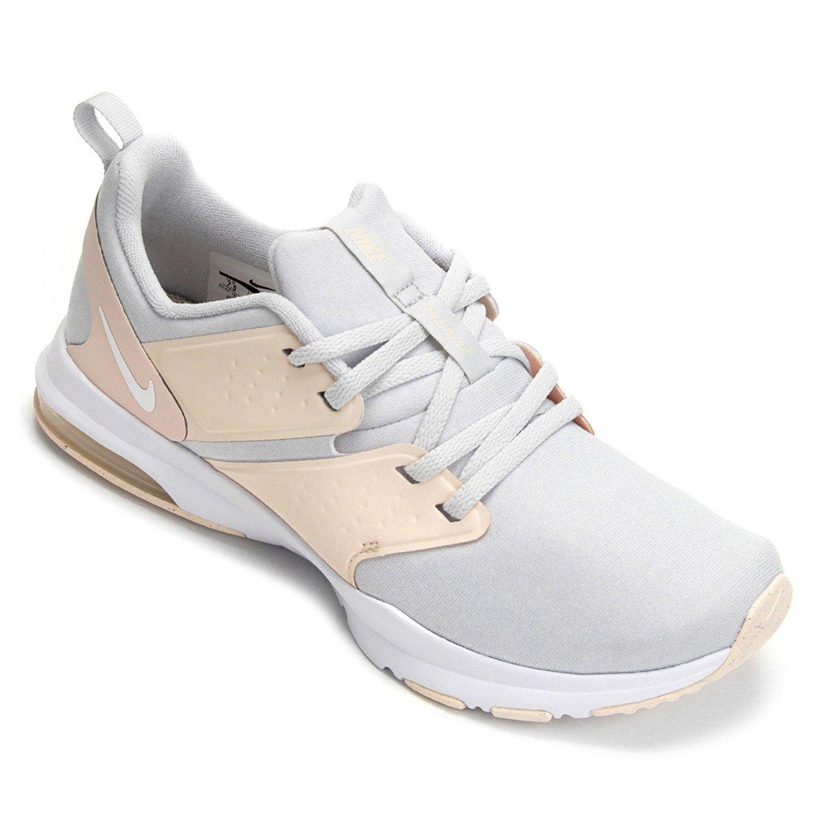 5c38cc64fb Tênis Nike Air Bella Tr Feminino - Prata e Branco