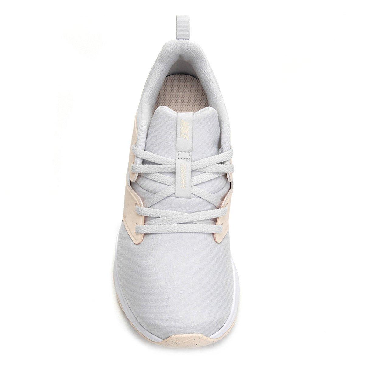 57d80037b3 ... Tênis Nike Air Bella Tr Feminino - Prata e Branco - Compre Agora .