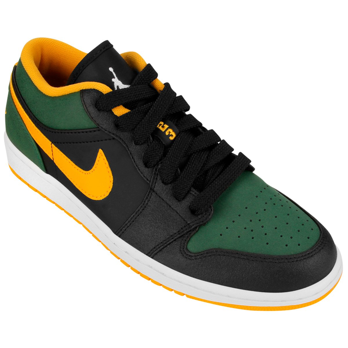 t nis nike air jordan 1 low preto e amarelo. Black Bedroom Furniture Sets. Home Design Ideas