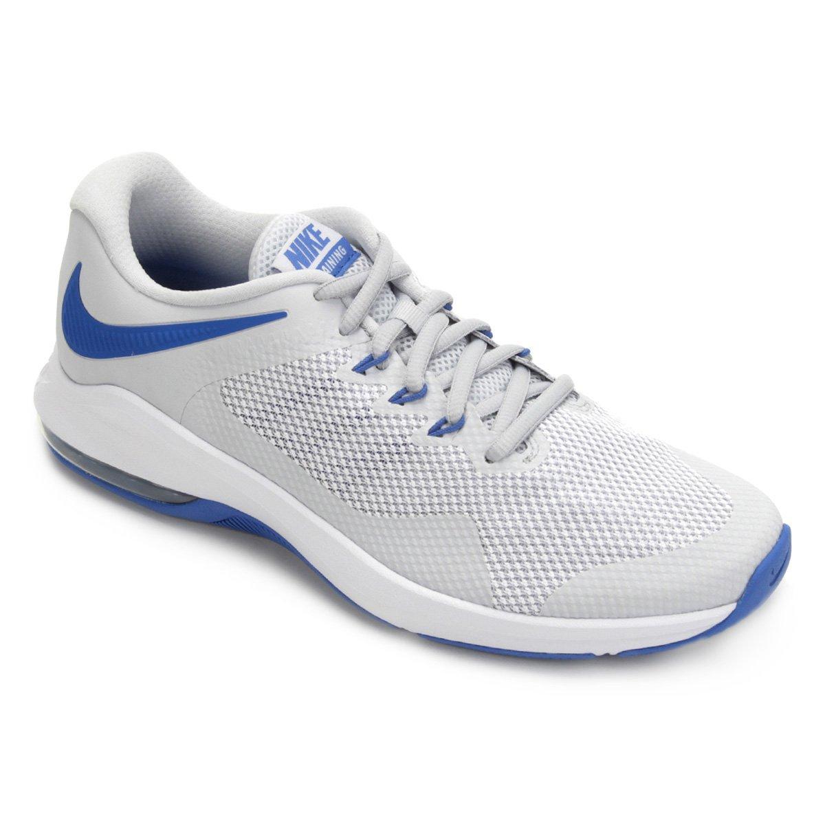 83c524560 Tênis Nike Air Max Alpha Trainer Masculino - Prata e Azul - Compre Agora