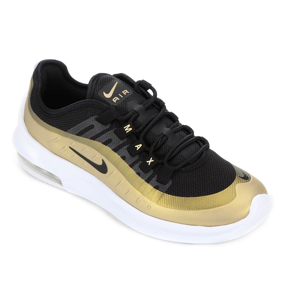 zapatos deportivos d67f0 cb447 Tênis Nike Air Max Axis Masculino - Preto e Dourado