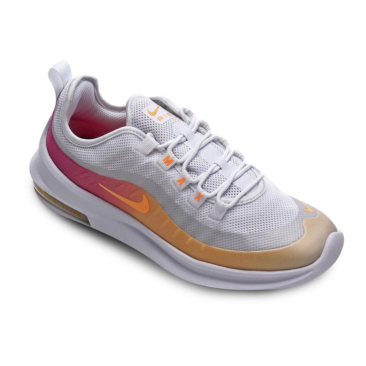 Tênis Nike Air Max Axis Prem Feminino Branco E Laranja