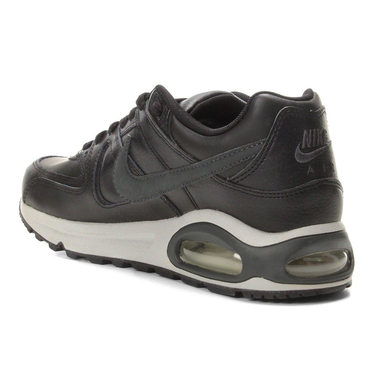 Tênis Nike Air Max Command Leather Masculino Preto e Cinza