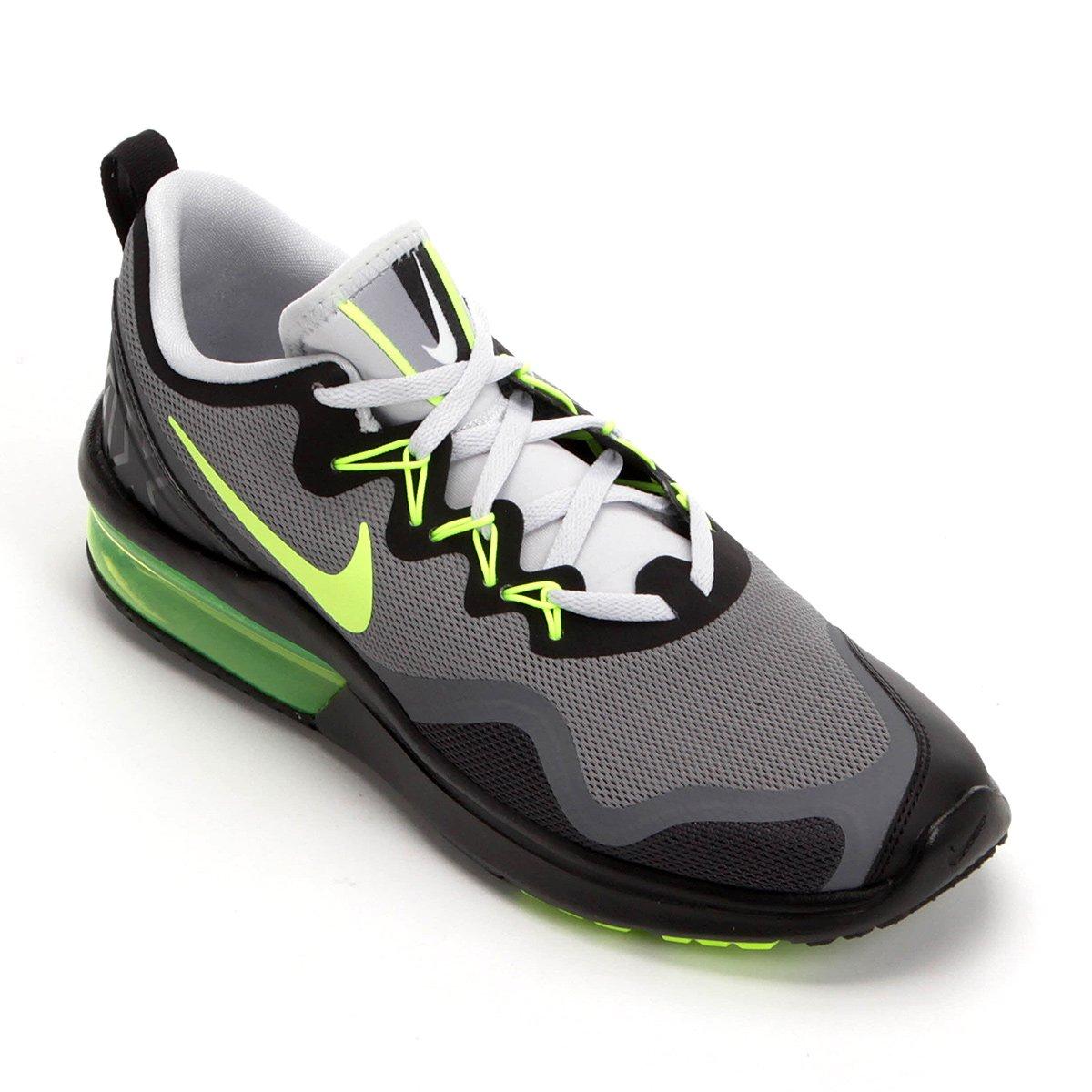 0cce16065bf Tênis Nike Air Max Fury Masculino - Cinza e Verde Limão - Compre Agora